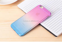 Cell phone accessory Gradient Color Transparent Soft TPU Case ultra thin case for iphone 6 alibaba china
