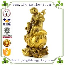 2015 chinese factory custom made handmade carved hot new products polyresin monkey zodiac statue