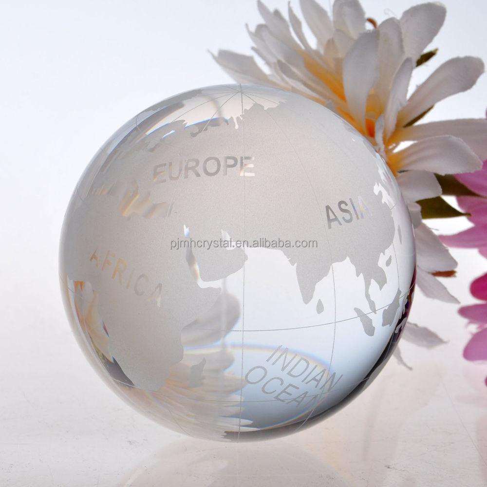 Melhor terra de cristal jateamento, vidro de cristal do globo da terra MH-Q0012