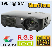 New arrival !!3000Lumens 3LCD 1920*1080 High Definition 1080p LED projector X1000