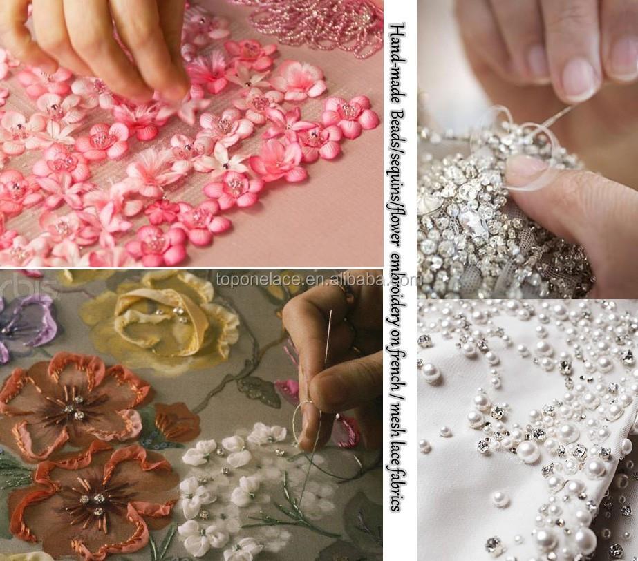 Как вышивают кружева на ткани 2