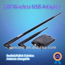 OEM 2W Wireless Network Adapter with 54M/150Mbps data rate, with detachable antena, for more than 1KM wifi distance