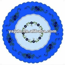 Festival attractive design PVC dining table cover/plastic round table cover