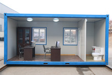 Good quality prefabricated converted shipping 20ft two floors container houses usa