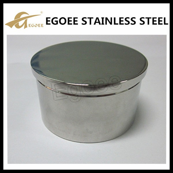 Hot sale stainless steel pipe end cap for wood handrail