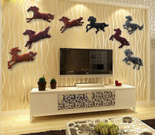 Resin art craft horse wall hangings for garden decoration wedding gifts 15055B