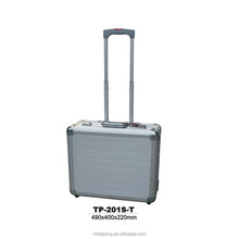 Silver Aluminum Tool Case Notebook Attache Jewelry Travel Trolley Case