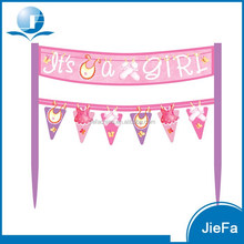 Custom Cake banners Pink Princess Cake Banner 6.5 x 5.75 inches Cake Decoration Accessories