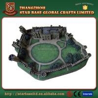 Custom mini castle building resin 3D decorative craft decoration