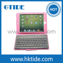 high quality mini bluetooth keyboard PU leather case for ipad mini android tablet