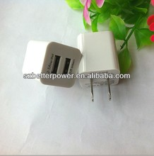 High quality 2.1A travel adapter, Dual USB charger for iPad iPhone 5 5S 4S 4 /Samsung/HTC/Blackberry...
