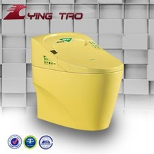 manufactured ceramic one piece wc toilet yellow color toilet