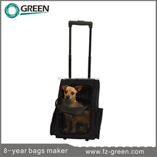 pet product trolley pet cat dog bag travel carrier backpack on wheels