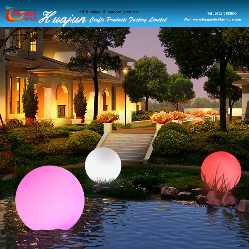 Clairage ext rieur led ball jardin led ballon d for Eclairage de jardin