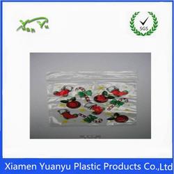 Custom design fancy logo plastic heat sealing transparent zip lock bags