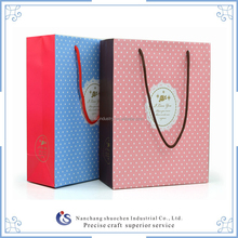 High Quality Gift Bags/Special Paper Dot Gift Bags With Rope