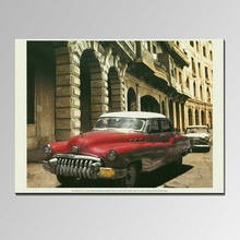 New Design red abstract car Oil painting on Canvas for Home wall Decoration