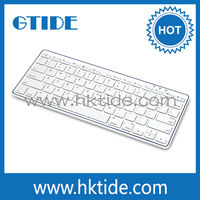 Gtide KB451white li-ploymer notebook bluetooth wireless keyboard for surface pro and for samsung galaxy tab
