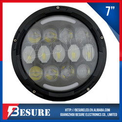 2015 Newest DOT Approved 75W Updated Version 78W Motorcycle LED Headlight With Beautiful Lens For Harley Davidson