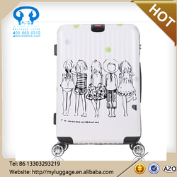 lightweight eniment abs pc trolley luggage suitcase set