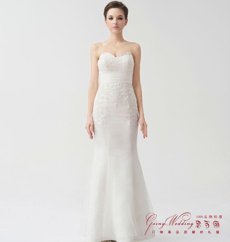Goingwedding mermaid wedding dresses with detachable skirt for Removable tulle skirt wedding dress