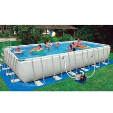 Summer entertainment products Rectangular Outdoor Inflatable pool Inflatable swimming pool with Reinforcement