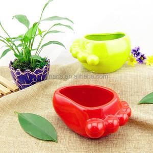 Главная украшения красочные небольшой ноги форма керамический цветочный горшок