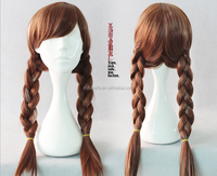 016 a domestic wire cosplay anime wigs Snow and ice colors Anna wig