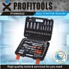 "94pcs 1/4""&1/2"" high quality car emergency tool kit"