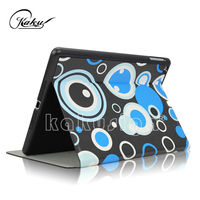 Cute pattern on black case for apple ipad air 2 case