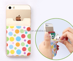 Silicone/Lycra Mobile Pocket with 3M Sticker