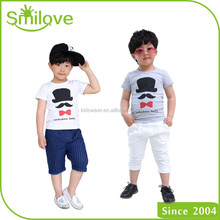 wholesale 100% cotton kids t shirts with printed pattern popular garment in summer boy sleeveless tee