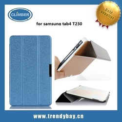 Light weight smart cover for samsung galaxy tab 4 7.0 leather case