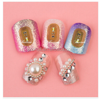 hot selling 3D shining NFC nail sticker with LED flash light