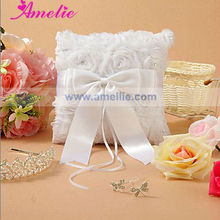 AR58 Chiffon Ribbon Decoration Wedding Ring Cushion