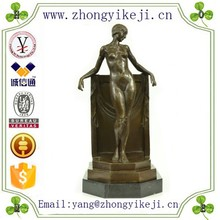 2015 chinese factory custom made handmade carved hot new products metal arts and craft of Naked Female statue