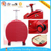 high quality unique PC mini 16''ladies' portable red rounmd single trolley