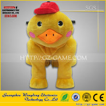 kiddie walking animal ride on toy, stuffed animals / ride on toy for shopping mall