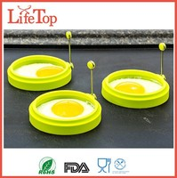 Silicone Egg , Pancake Breakfast Sandwiches, Nonstick Mold Ring