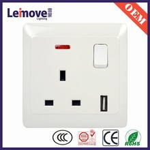 3 pin british eletric socket,usb wall socket