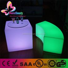 50cm long battery life 16 color changing cube plastic cube