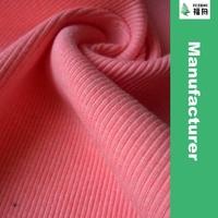 CVC Cotton Polyester Knit 2*2 Rib Fabric for Clothing