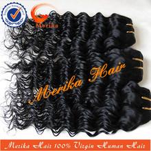 Nuevo 2014 arrvial 6a venta al por mayor remy del pelo de la vía láctea cabello humano, onda profunda armadura del pelo remy
