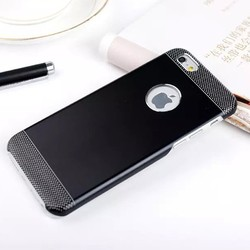 Metal Brush PP Hard Moblie Phone Case For Apple iPhone 6 Plus