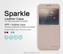 NILLKIN Leather Case For Samsung Galaxy S6 Sparkle Leather Case for galaxy s6