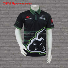 Custom sublimation tight wear racing polo shirts wholesale
