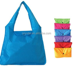 Colorful polyester reusable folding shopping tote bag/cheap folding bag