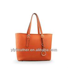 1406 2014 Lady Fashion Tote Handbag M.K. PU Leather Hand Bags, Brand Handbag Orange Color