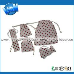 Multi Size, Custom Handmade Drawstring Linen Bag for Seeds