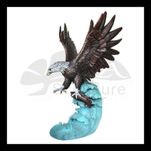 2015 new produced bronze eagle sculptures for exterior